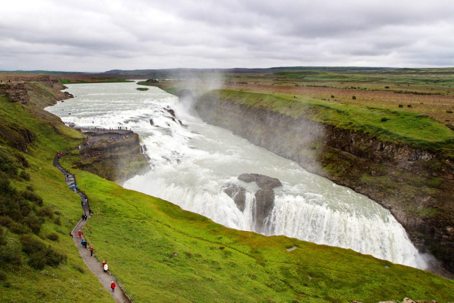 Vakre Gullfoss på Island