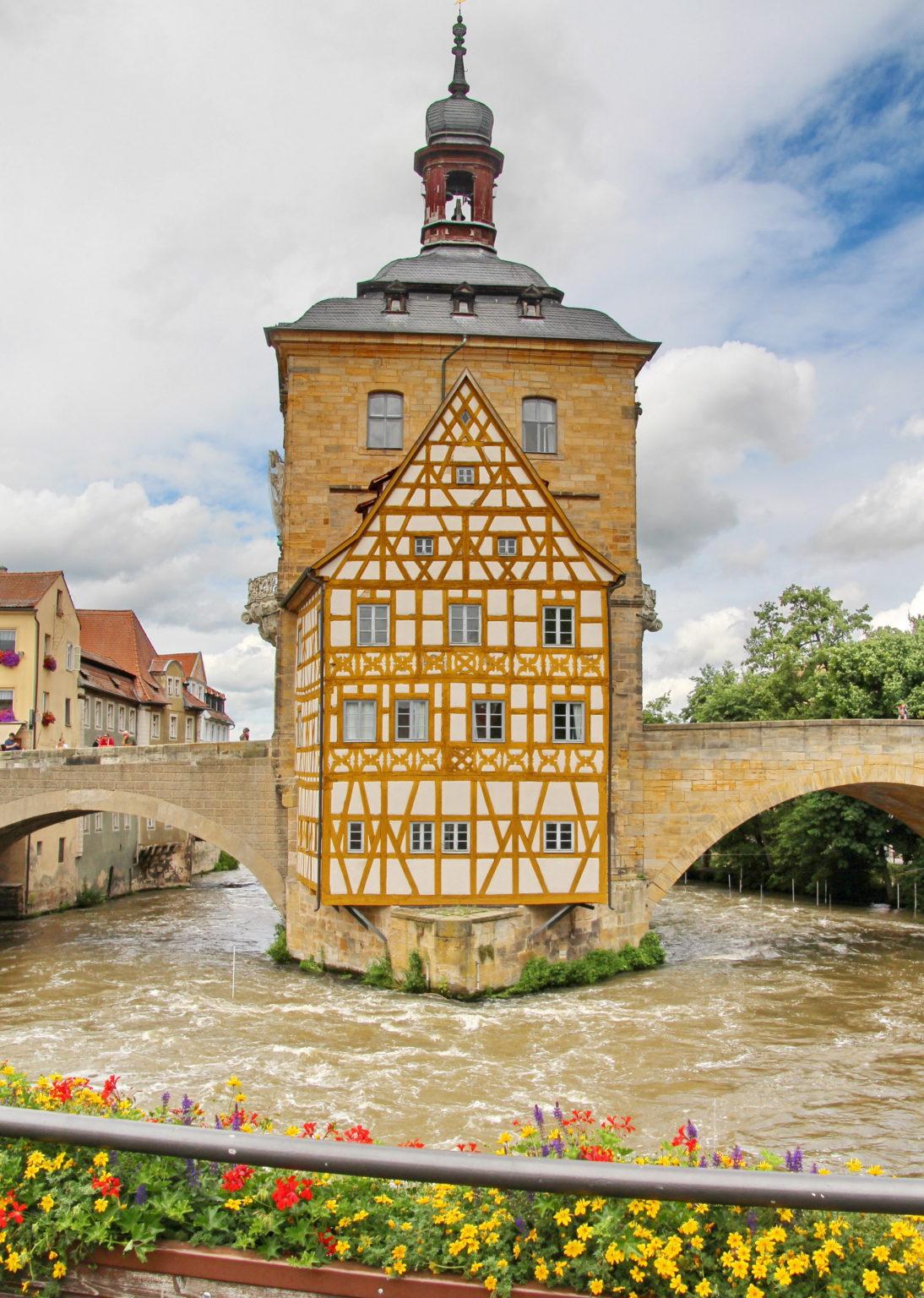 Rådhuset i Bamberg er kanskje byens mest yndede motiv.