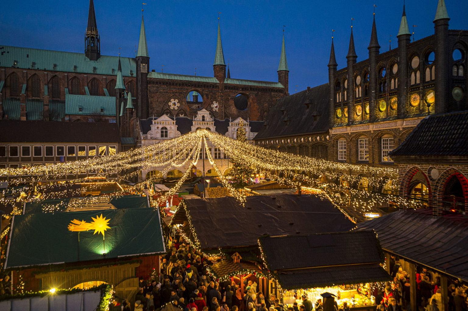 Julemarked i Lubeck tyskland